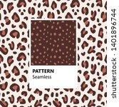 set. leopard print. vector... | Shutterstock .eps vector #1401896744