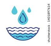 water resources line color icon....