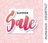 summer sale card template. hand ... | Shutterstock .eps vector #1401897617