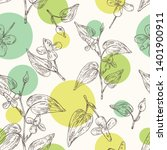seamless pattern with... | Shutterstock .eps vector #1401900911