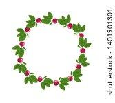 radish wreath. fresh vegetables.... | Shutterstock .eps vector #1401901301