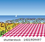 view from the terrace to the...   Shutterstock .eps vector #1401909497