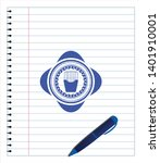 fries icon with pen strokes....   Shutterstock .eps vector #1401910001