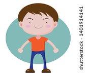 cute boy cartoon character... | Shutterstock .eps vector #1401914141