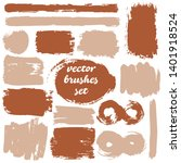 collection of dirty elements.... | Shutterstock .eps vector #1401918524
