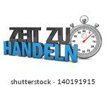 stopwatch with german text zeit ... | Shutterstock . vector #140191915
