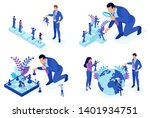 isometric concepts of employee... | Shutterstock .eps vector #1401934751