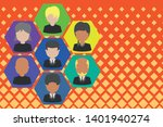 picture frames chief executive... | Shutterstock .eps vector #1401940274