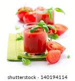 Tomato Juice And Fresh Tomatoe...