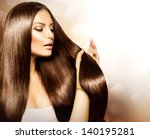 hair. beauty fashion model... | Shutterstock . vector #140195281