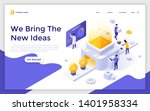 landing page template with... | Shutterstock .eps vector #1401958334