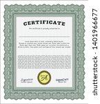 green certificate or diploma... | Shutterstock .eps vector #1401966677