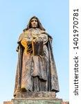 statue of giordano bruno on...   Shutterstock . vector #1401970781