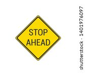 stop ahead sign isolated on...   Shutterstock .eps vector #1401976097