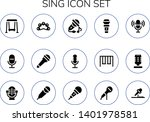 sing icon set. 15 filled sing...   Shutterstock .eps vector #1401978581
