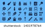 stick icon set. 32 filled stick ... | Shutterstock .eps vector #1401978764