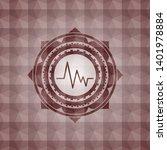 electrocardiogram icon inside... | Shutterstock .eps vector #1401978884