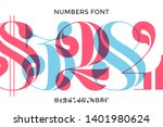 font of numbers in classical... | Shutterstock .eps vector #1401980624
