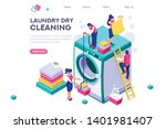 dry service  shirt on spot.... | Shutterstock .eps vector #1401981407