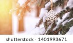 cute decoration in the form of... | Shutterstock . vector #1401993671