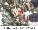 cute winter christmas story  ... | Shutterstock . vector #1401993674