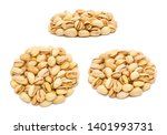 set of handfuls of nuts from... | Shutterstock . vector #1401993731