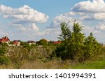 vineyard on the outskirts of... | Shutterstock . vector #1401994391