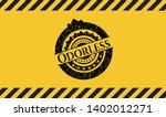 odorless black grunge emblem...   Shutterstock .eps vector #1402012271