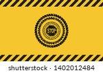 stop icon black grunge emblem...   Shutterstock .eps vector #1402012484