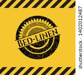bed linen black grunge emblem ...   Shutterstock .eps vector #1402012487