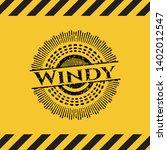 windy black grunge emblem...   Shutterstock .eps vector #1402012547