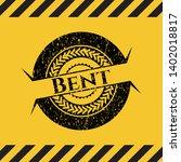 bent black grunge emblem inside ...   Shutterstock .eps vector #1402018817