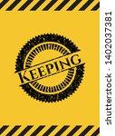 keeping black grunge emblem ...   Shutterstock .eps vector #1402037381
