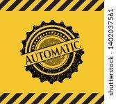 automatic black grunge emblem...   Shutterstock .eps vector #1402037561