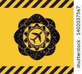 plane icon grunge black emblem...   Shutterstock .eps vector #1402037567
