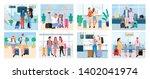 traveling people  senior man... | Shutterstock .eps vector #1402041974
