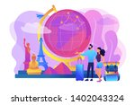 tourists visiting europe ... | Shutterstock .eps vector #1402043324