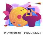 stressed man suffering from... | Shutterstock .eps vector #1402043327