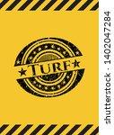 turf grunge warning sign emblem....   Shutterstock .eps vector #1402047284