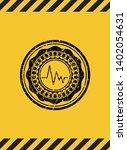 electrocardiogram icon grunge... | Shutterstock .eps vector #1402054631