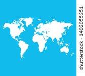 white world map on blue... | Shutterstock .eps vector #1402055351