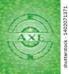 axe green mosaic emblem. vector ... | Shutterstock .eps vector #1402071371
