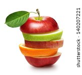 apples and orange fruit isolated | Shutterstock . vector #140207221