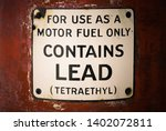 lead warning found on old... | Shutterstock . vector #1402072811