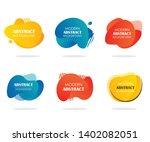 abstract modern liquid shape... | Shutterstock .eps vector #1402082051