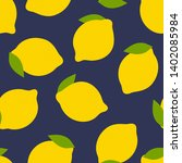 lemon fruit seamless pattern.... | Shutterstock .eps vector #1402085984