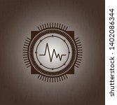 electrocardiogram icon inside... | Shutterstock .eps vector #1402086344