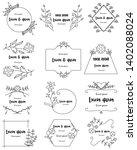 hand drawn floral frames set...   Shutterstock .eps vector #1402088024