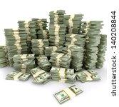 3d illustration of dollars... | Shutterstock . vector #140208844