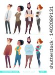 people in two different style... | Shutterstock .eps vector #1402089131